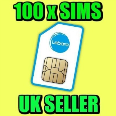 100 x Lebara Pay As You Go Sim Cards