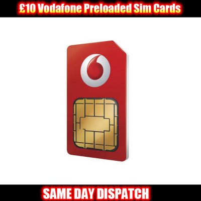 £10 Vodafone Preloaded Sim