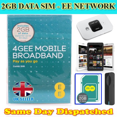 2GB EE Preloaded Data Sim