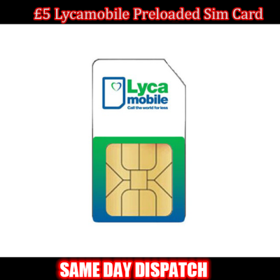 £5 Lycamobile Preloaded Sim Card