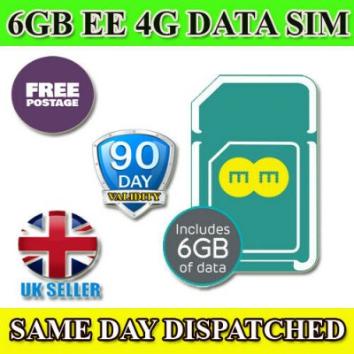 6GB EE Preloaded Data SIM