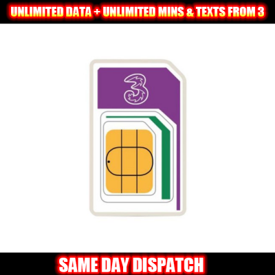 UNLIMITED DATA + UNLIMITED MINS & TEXTS FROM 3