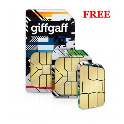 100 x Giffgaff Pay As You Go UK Sim Cards