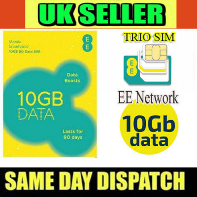EE 10GB Data Sim Card